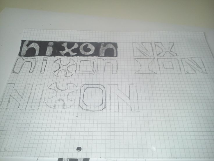 We had a class to do a logo in. It was for nixon, these as some of my ideas.