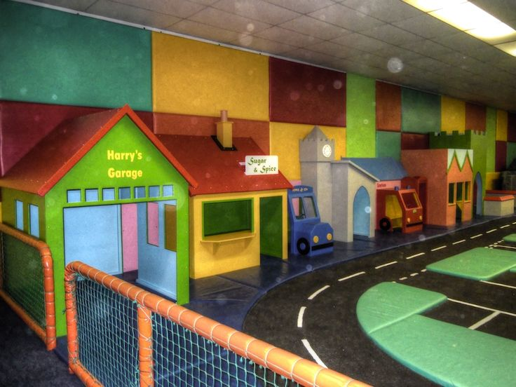 Back wall from left (Cheeky Monkey nursery indoor children's play area)