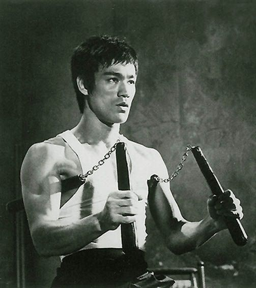 bruce lee and nunchucks | Bruce Lee Double Nunchaku