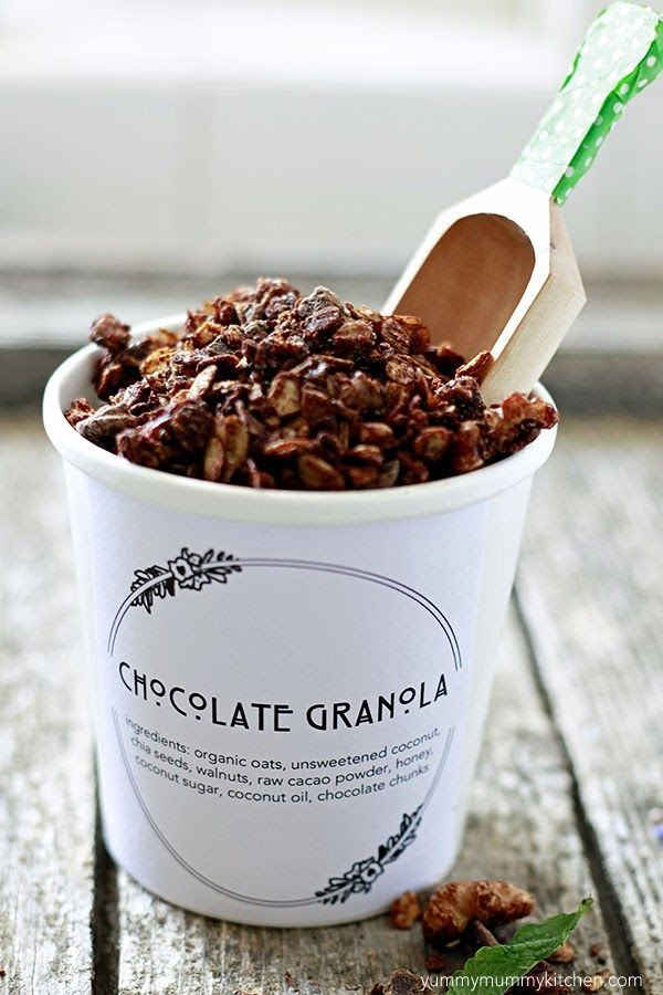 Healthy Chocolate Granola Recipe: Yummy Mummy Kitchen  #glutenfree and #vegan friendly