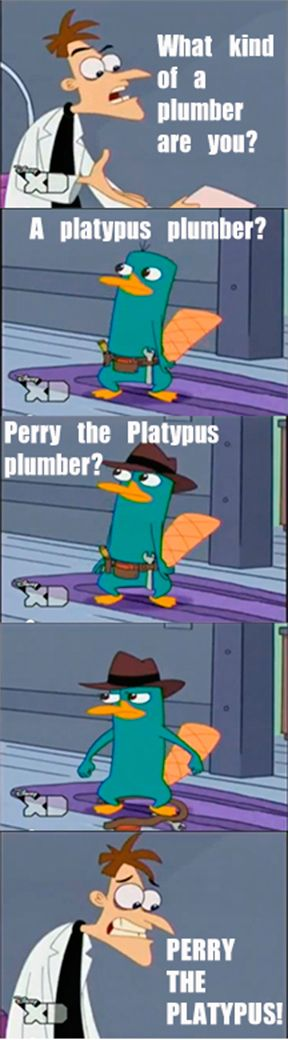 Dr. Doofenshmirtz and Perry the Platypus...I think I laugh more than my children at this show. Genius!! :)