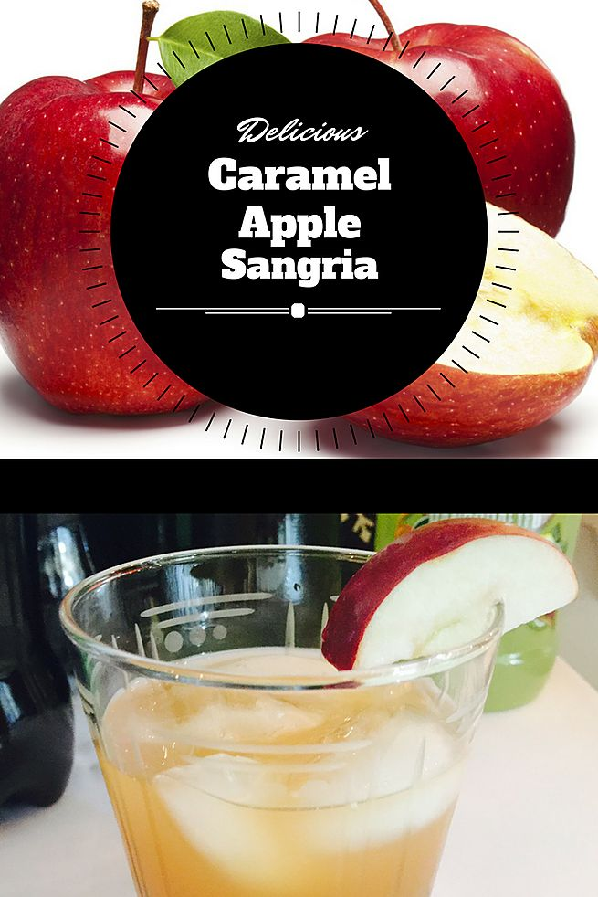 Caramel Apple Sangria is a smooth and refreshing fall-inspired drink  made from caramel vodka , sweet apple cider and crisp pinot grigio.