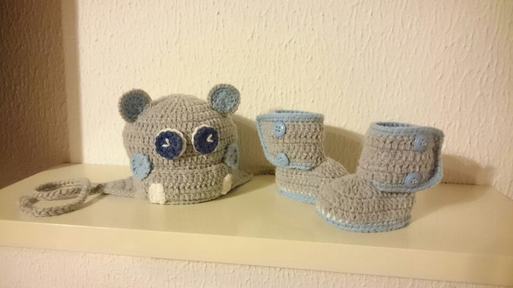 Crochet Hippo Hat And Booties