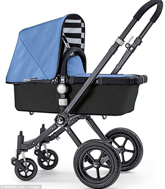 A blue Bugaboo buggy