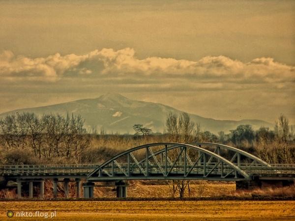 bridge in Raciborz, and Czantoria Mountain, Poland