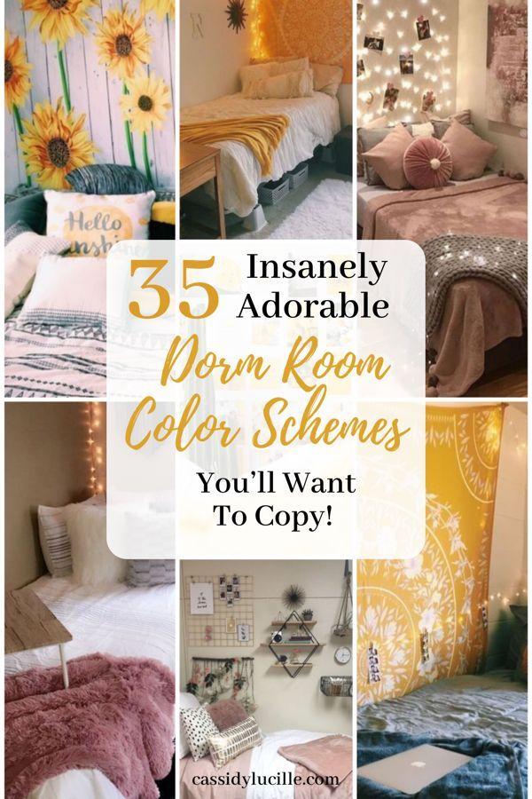 10 Best Dorm Color Schemes For Your Freshman Dorm Room | Dorm room ...