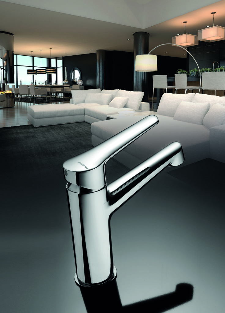 """The """"88"""" single control mixer for washbasin."""