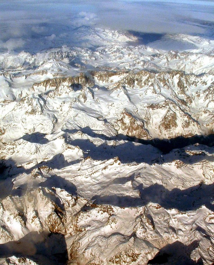 Aerial vew of the Andes Mountains and a great post on words that refer to Chile and that start with A. Read more.