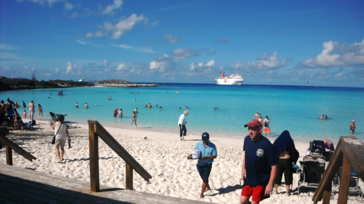 one of the nicest places I've been to...Half Moon Cay in the Bahamas...