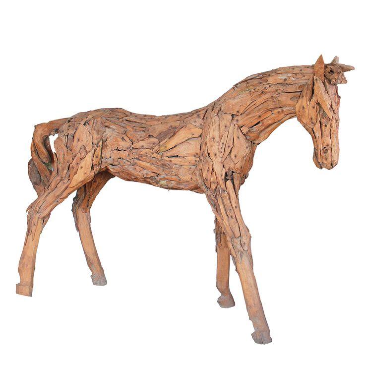 Teak Driftwood Horse. Lifesize - easterly.com.au
