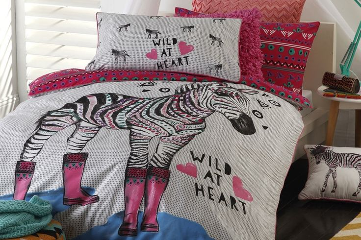 This funky fluorescent Kid's Duvet Cover is a must have and will definitely brighten the room.