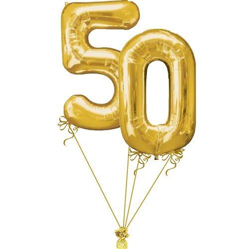 Golden Balloons 50th Birthday Ideas