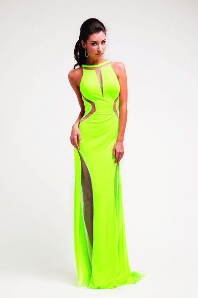 Neon prom dress