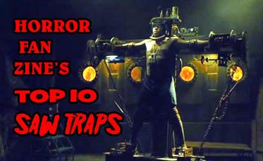 Horror Fan Zine's list of the Top Ten Saw Traps. We give you the best (worst) of Jigsaw's creations from the first five movies in the Saw franchise. Fun for the whole family!