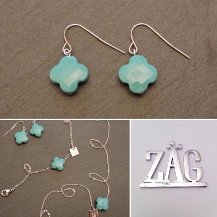 Bo trèfle agate turquoise Zag Bijoux , 18,99\u20ac