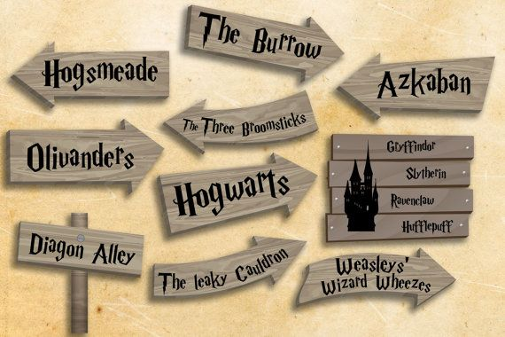Harry Potter party printables Harry Potter party decorations Instant download…