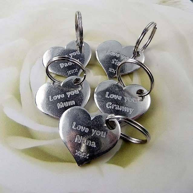 'Love You' Family Pocket Heart Key Ring from notonthehighstreet.com