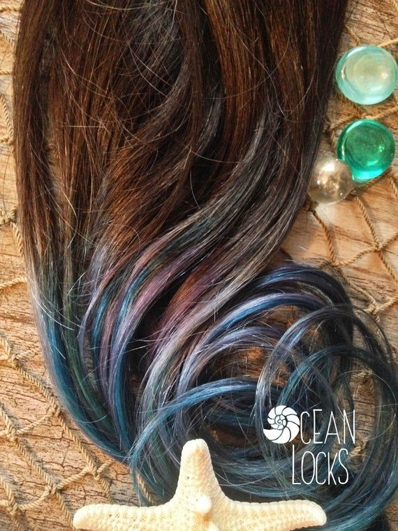Dip Dye Hair Extensions, Ombre Hair Extensions, Hair Extensions Clip in, Blue Hair, Teal Hair, Thic