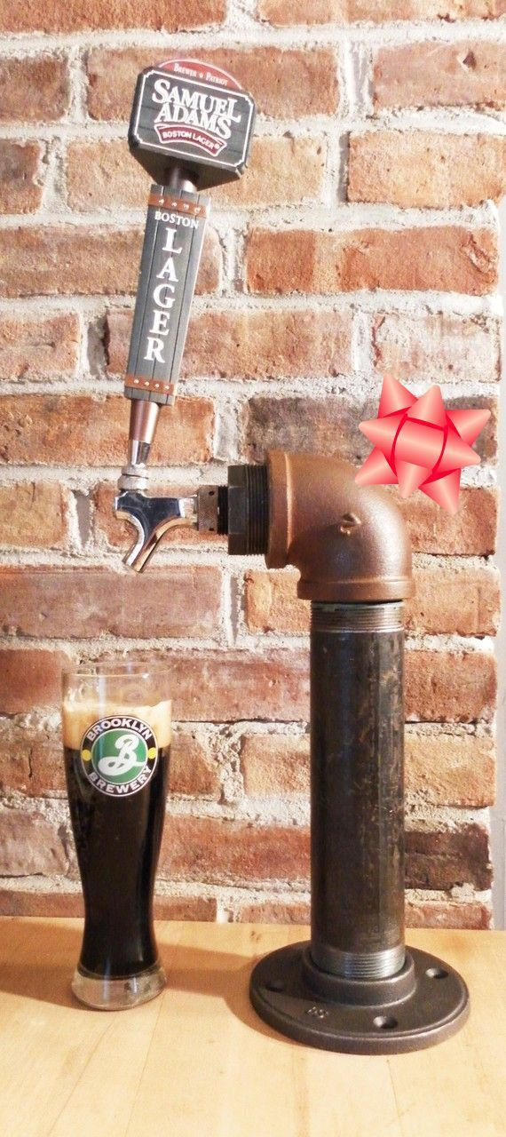 Holiday Gift Pick for the Beer Lover Single custom by TappedBeer. available as a double tap with the same rust /copper effect