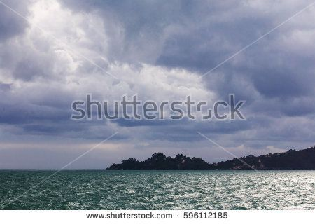Portofino mount with stormy weather
