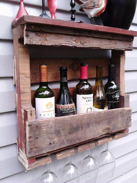 Wine rack wine decor wine glass holder bar decor by NotTheJoneses, $45.00 via Etsy