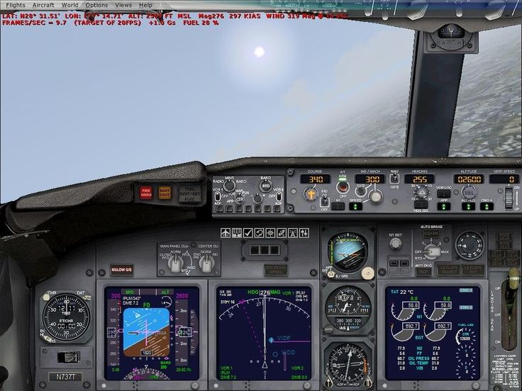 Cockpit. Boeing 737 I think.....Microsoft Flight Simulator!