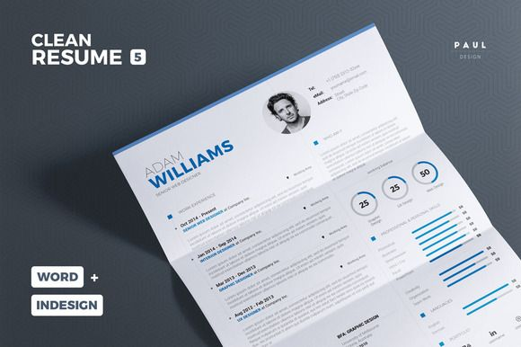 Clean Resume/Cv Vol. 5 by The Resume Creator on @creativemarket