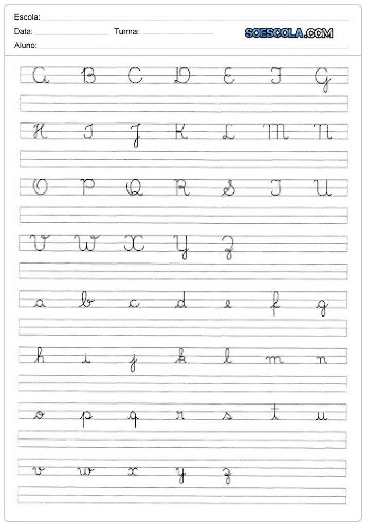 Atividade De Caligrafia Do Alfabeto Em 2020 Caligrafia Do Alfabeto