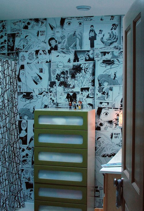 How To Make Your Own Anime Mural Wall Anime Wall Pinterest Room Room Decor And Bathroom