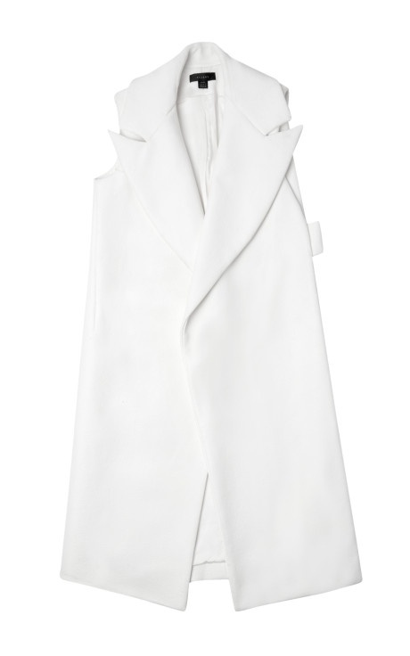 cotton and rubber coated Sleeveless Trench In White by Ellery