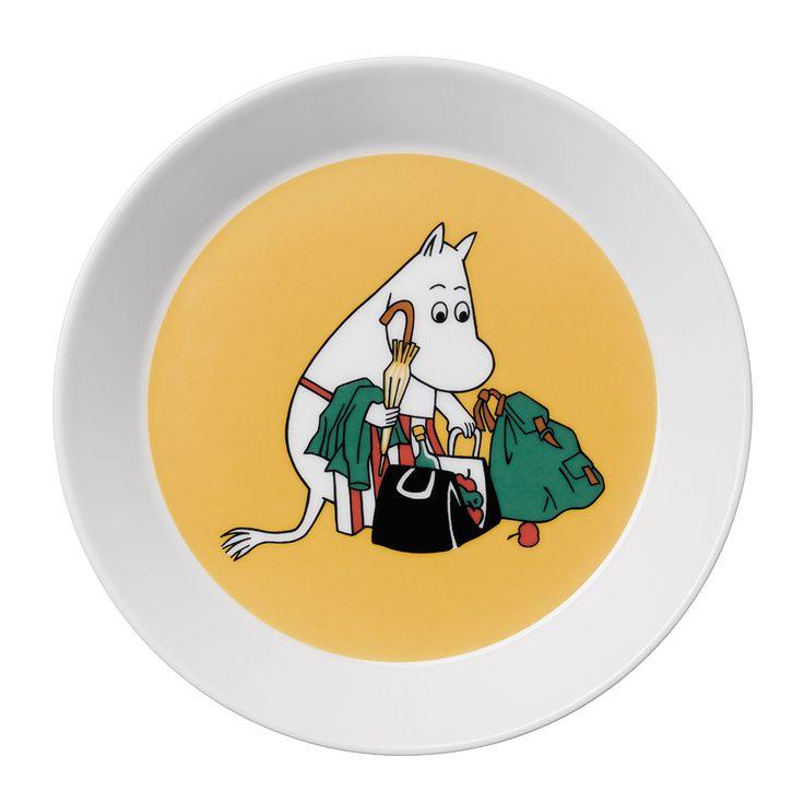 Moomin Plate Moominmamma, Peach - Tove Slotte-Elevant - Arabia - RoyalDesign.com