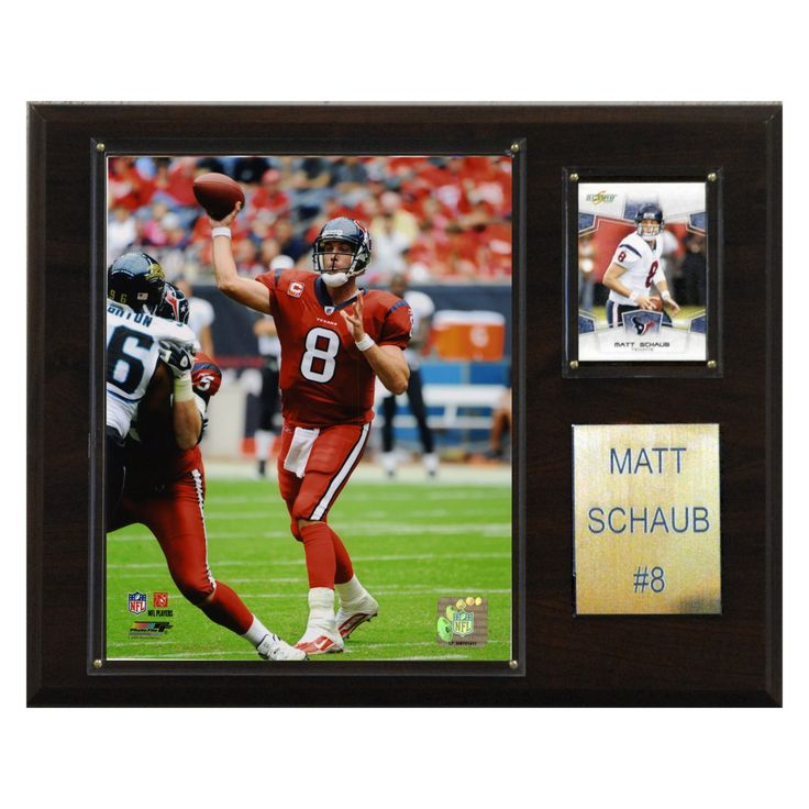 NFL 12 x 15 in. Matt Schaub Houston Texans Player Plaque - 1215SCHAUB