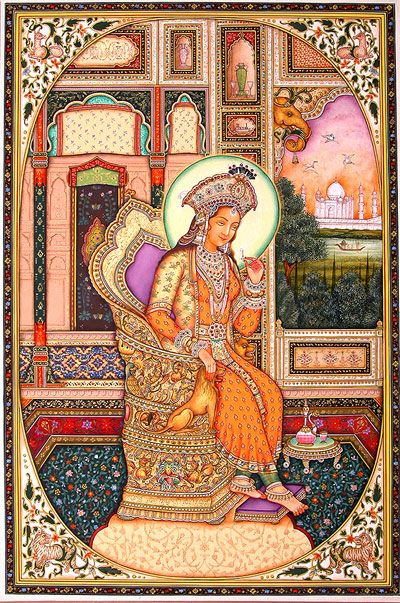 Mughal miniature paintings