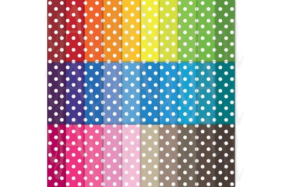 Check out 30 Rainbow Polka Dot Digital Paper by YenzArtHaut on Creative Market