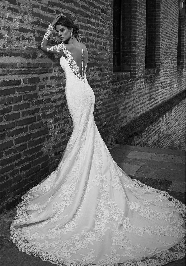 Gorgeous 2016 lace mermaid wedding dress with portrait back and long sleeves. See more of Gift Addicted at our website www.biensavvy.eu or book an appointment for a showroom fitting at office@biensavvy.eu