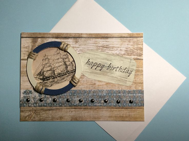 Nautical card for an old shipwright's birthday