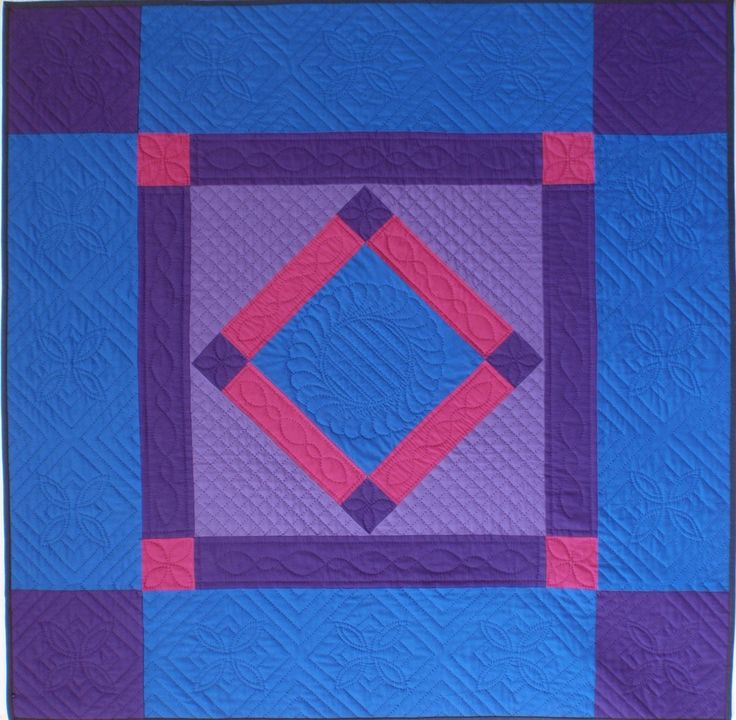 Lancaster Diamond (Amish quilt), hand quilted by Robyn at Patchwork Passion (New Zealand)