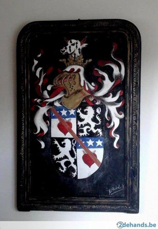Wiliam Nithsdale Heraldiek..Deze heraldische plaat met het wapen van William Nithsdale (douglas) een uniek stuk met het wapen van deze bastaard ridder...