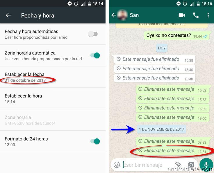 #WhatsApp: Hemos investigado la forma de burlar la restricción de 7 minutos para eliminar mensajes del teléfono de la otra persona.  Solo cambiando la fecha se pueden eliminar mensajes antiguos, así haya pasado una semana.    http://www.androidjefe.com/eliminar-mensajes-whatsapp-dias-atras/   El truco sigue funcionando en la última versión de WhatsApp, beta y estable.   #Android #iPhone #Bug #Fallas #7minutos