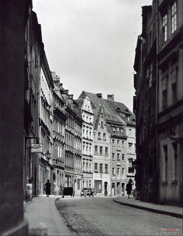 Wrocław - ulica Złote Koło od św. Antoniego w stronę Ruskiej (1920-1924)
