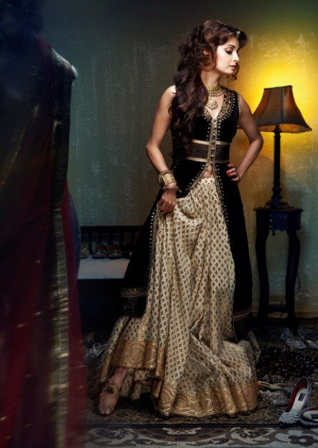 this is stunning. diya mirza. dress by anita dongre    like the skirt part