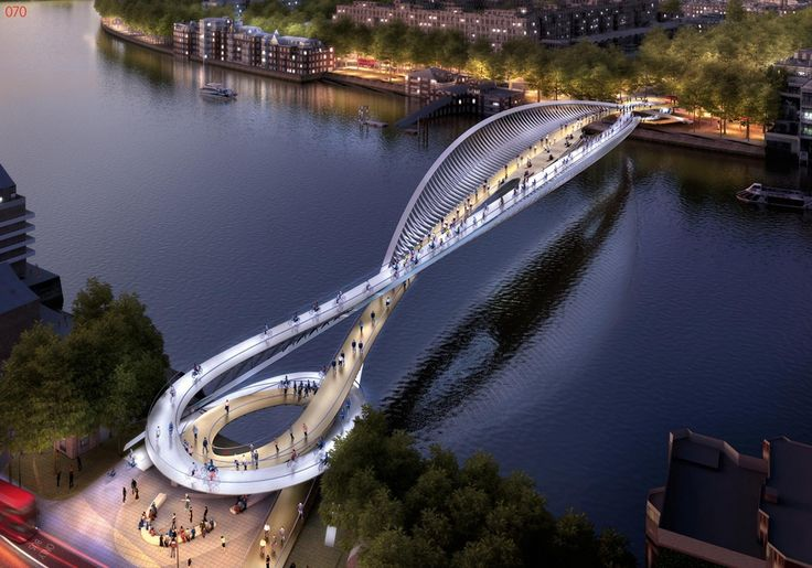 """74 """"Wild Designs"""" Considered for New Thames Pedestrian and Cycle Bridge,Courtesy of Nine Elms Vauxhall Partnership"""