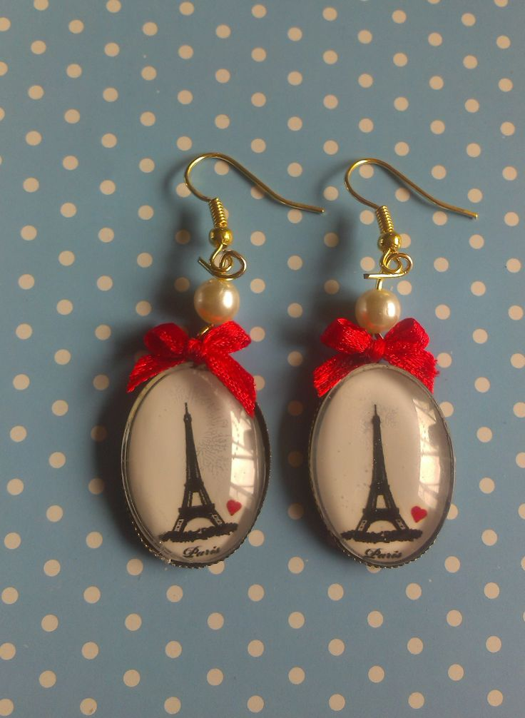 """Paris please"" DIY earrings/ oorbellen"