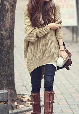 Love, love, lovveee the chunky sweaters.