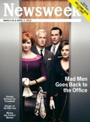 Very creative effort. If you missed the issue, you can see the retro ads here:  http://adage.com/article/mediaworks/retro-ads-newsweek-s-mad-men-issue/233377/