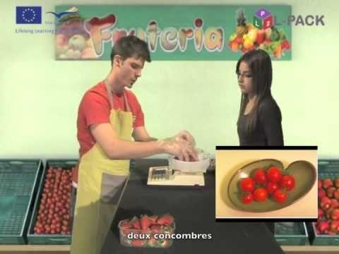 Dialogue 21b  faire des courses pour le repas  français - YouTube