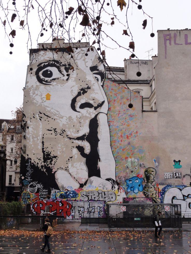 Near Centre Pompidou. Artist: Jef Aérosol