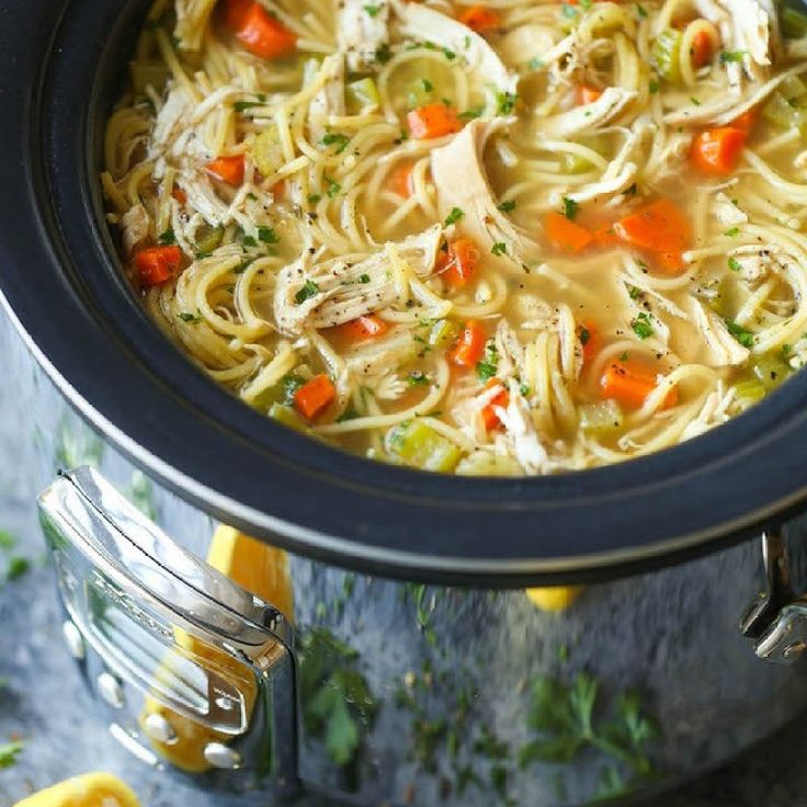 Recipes-Fitness |   Slow Cooker Chicken Noodle Soup