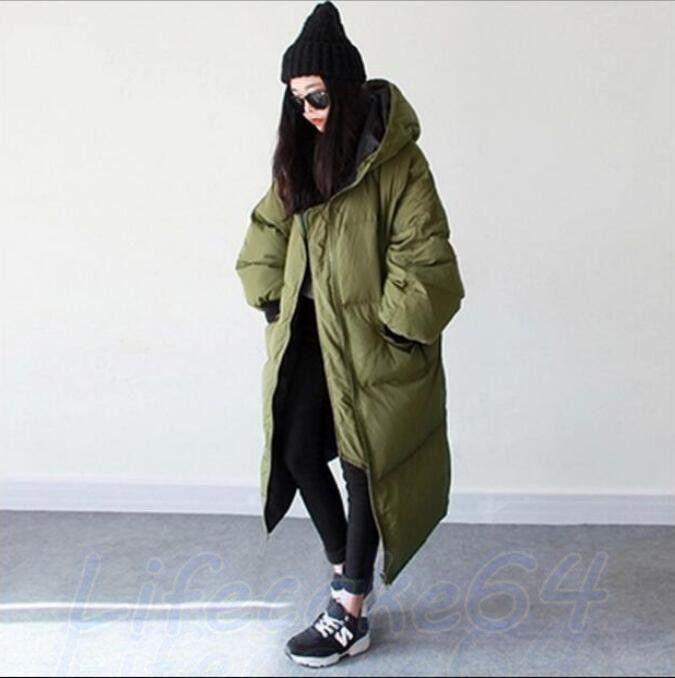 Daunenjacke Kapuzemantel Damen Winterjacke Mantel Übergang Langarm Größe S-3XL