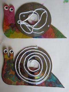 snail CD craft... tie in with frog and toad